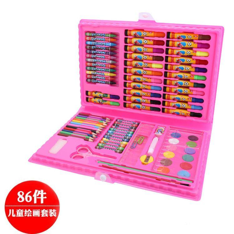 儿童绘画文具礼盒 画画玩具套装画笔蜡笔水彩笔小学生礼物批发