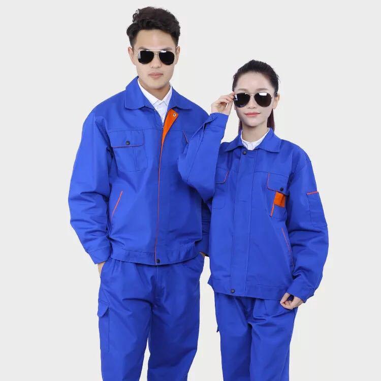 供应深圳冬季工作服套装长袖耐磨工程服工装汽修车间厂服