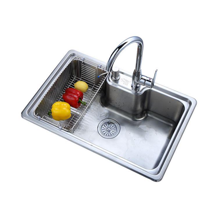 好家居厂家 不锈钢厨房洗菜盆手工水槽单槽 洗碗盆洗菜盆套装
