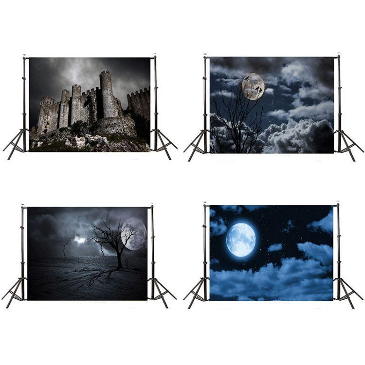 万圣节写真背景布 摄影背景布   影楼摄影主题背景布