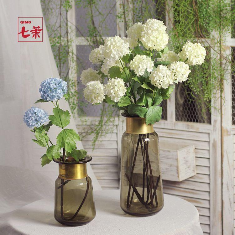 植物摆件仿真无尽夏绣球花幸运花客厅插花摆件欧式创意家居装饰花