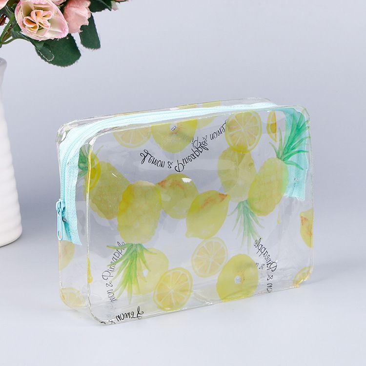 厂家直销 韩版透明pvc防水化妆包三件套 定制pvc化妆品收纳袋