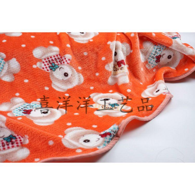 法兰绒双面卡通毛毯 幼儿园空调房毯子办公盖毯赠品 批发定制logo