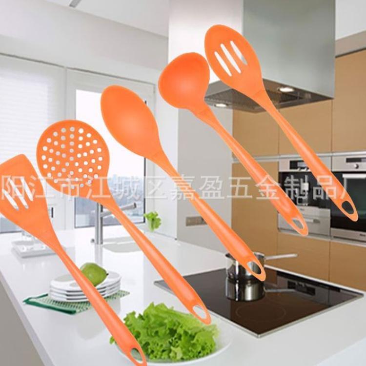 5件套硅胶厨具 硅胶勺硅胶铲 硅胶厨房小工具