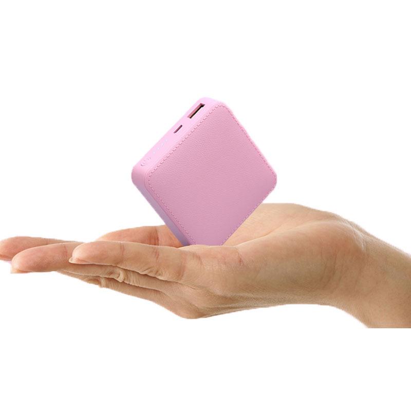 厂家直销礼品定制logo皮纹迷你充电宝 创意方形小巧移动电源批发