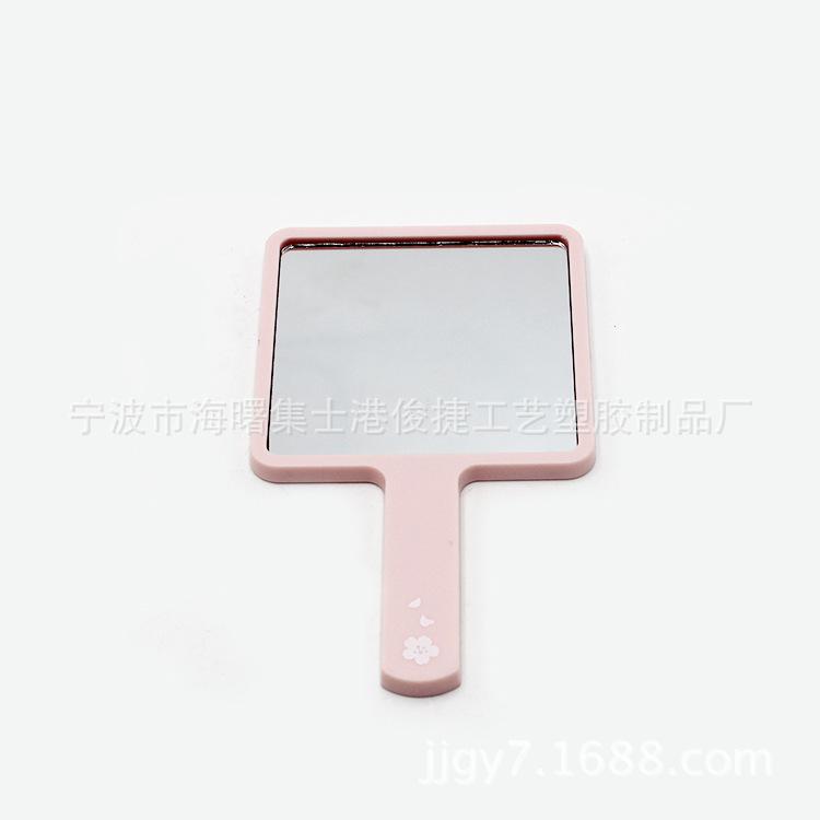 厂家直销塑料手柄镜单面镜 手持化妆镜 随身便携式化妆镜