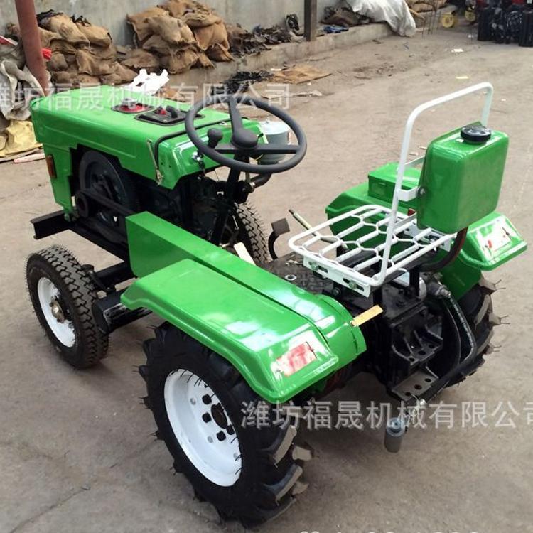小型后驱动四轮拖拉机 农业开沟旋耕多功能田园管理大棚王拖拉机