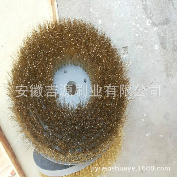 【供应】125*16型碗型钢丝轮 平行钢丝轮 钢丝抛光刷 除锈刷