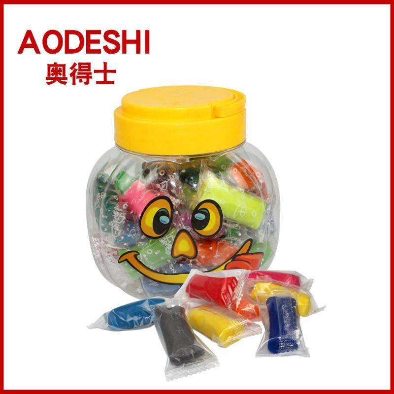 热销卡通可爱笑脸安全无毒桶装面粉泥 橡皮泥 儿童益智玩具