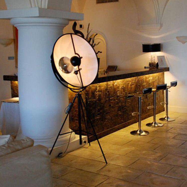 Loft复古工业风摄影棚北欧艺术客厅卧室简约现代创意三脚架落地灯