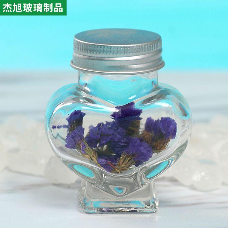 时尚创意心形玻璃瓶 生日礼品玻璃瓶 漂流许愿玻璃瓶 千纸鹤瓶子