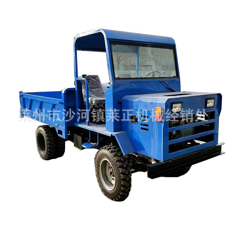 四驱四轮拖拉机农用运输车 四轮拖拉机后翻斗拖拉机自卸车