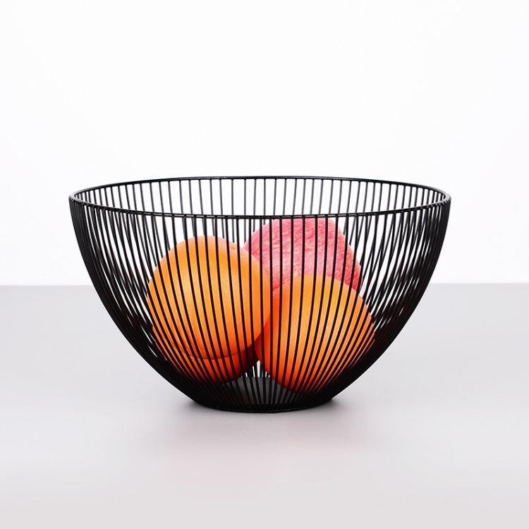 北欧ins 铁艺水果篮 简约设计果盆 客厅收纳筐 零食置物篮 果盘