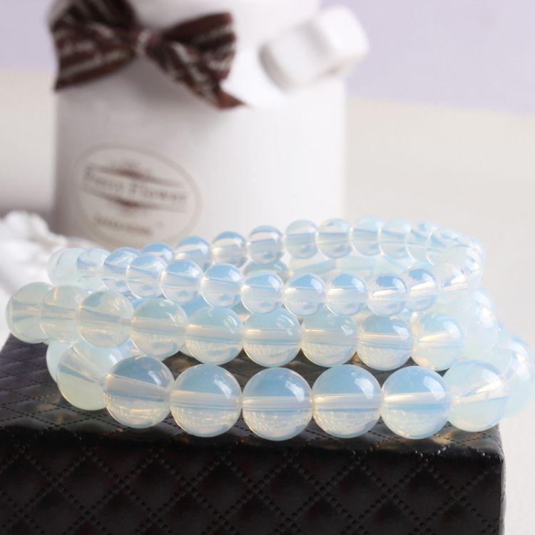 意春雨月光石手链 蛋白玉石时尚水晶经典跨境手串水晶月光石手链