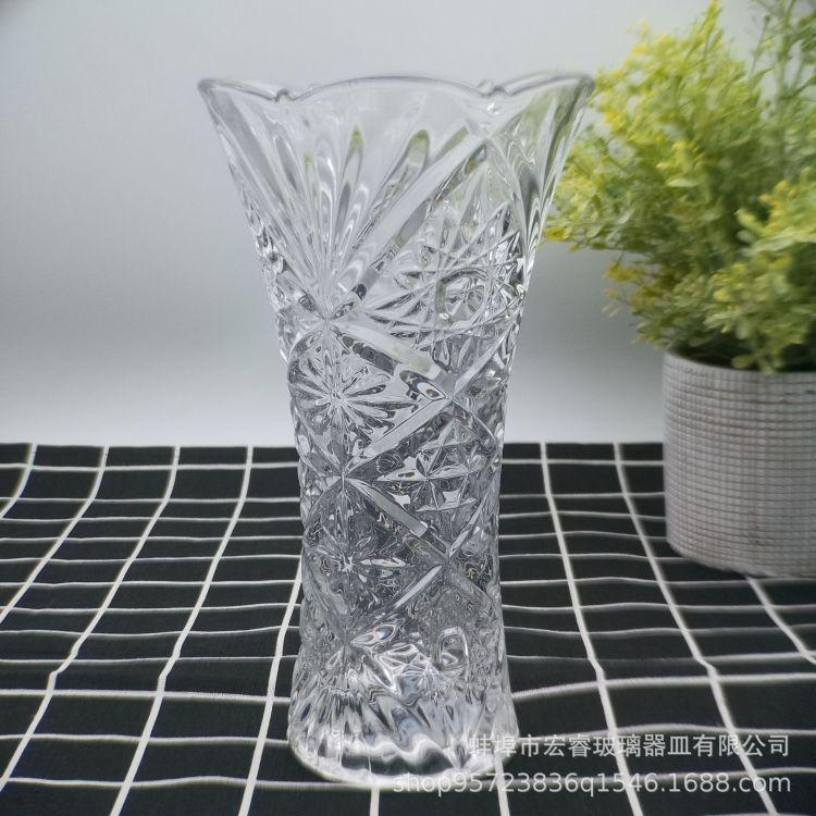 批发创意欧式花瓶摆件 璀璨钻石花瓶 宜家桌面摆件 透明插花瓶