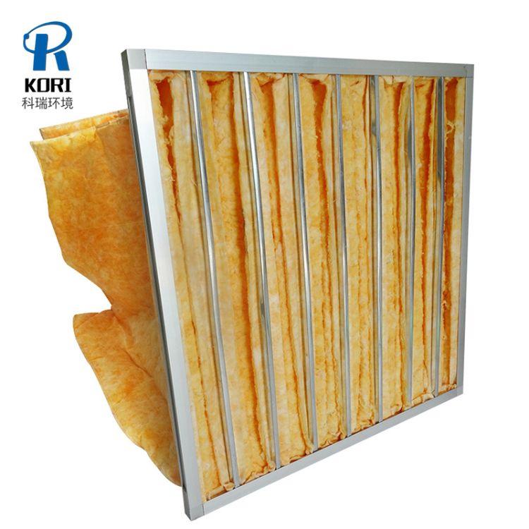 中效袋式过滤器 玻璃纤维过滤器 耐高温中效过滤袋 空气过滤器