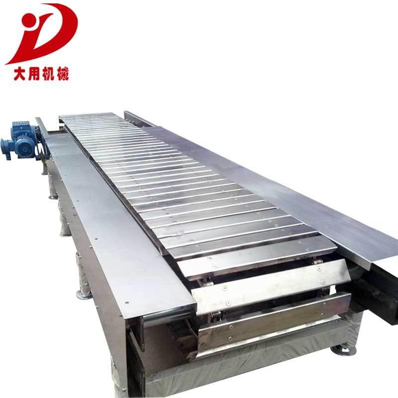 电器生产链板输送线 304不锈钢链板输送机 半爬坡升降板链输送机