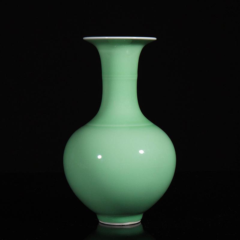 景德镇陶瓷花瓶厂家仿古青瓷花瓶中式家居摆件手绘陶瓷花瓶定制