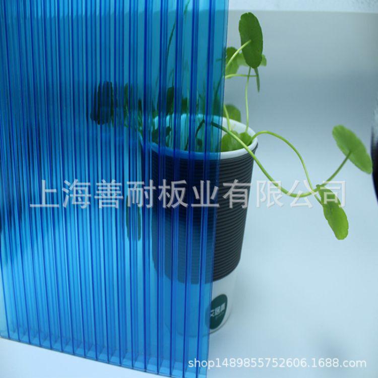 中空阳光板厂家供应车棚用pc中空阳光板 全新料透明pc阳光板