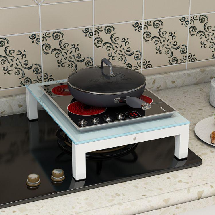 厨房置物架电磁炉架子电饭煲架电炒锅架煤气灶盖板微波炉置物架