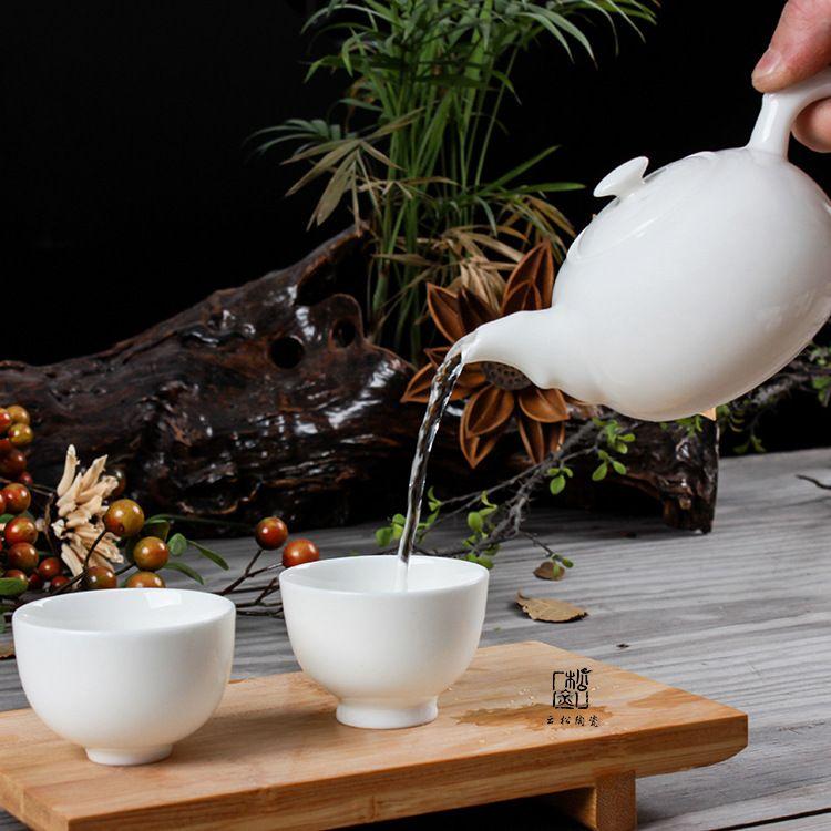 德化白瓷茶壶 玉瓷壶 高档灵芝白猪油白把玩壶 礼品定制LOGO