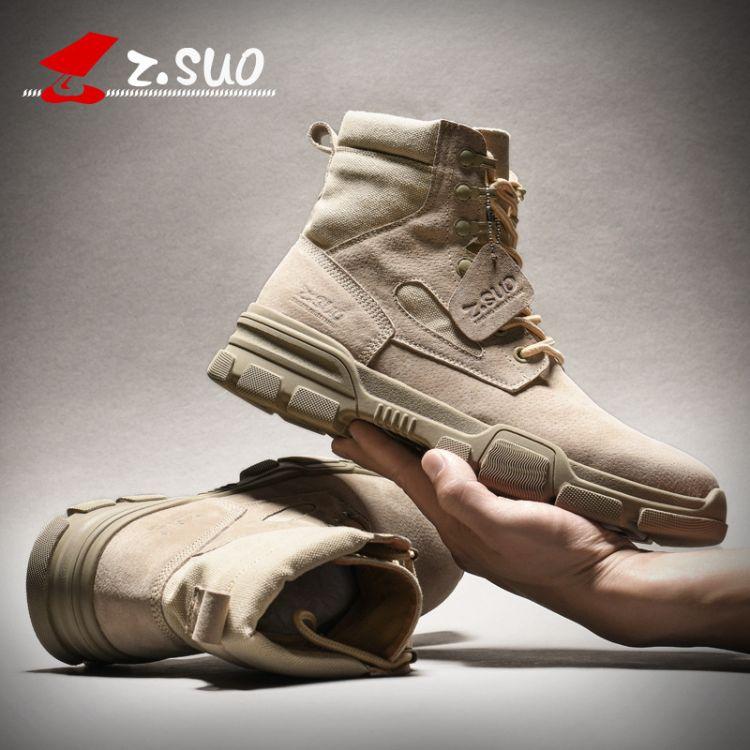 走索冬季马丁靴男英伦风高帮鞋潮靴子男工装男鞋中帮雪地靴男棉鞋