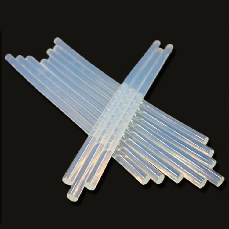 【源头工厂】特粘热熔胶棒 环保透明白胶棒胶条 工艺品diy热熔胶
