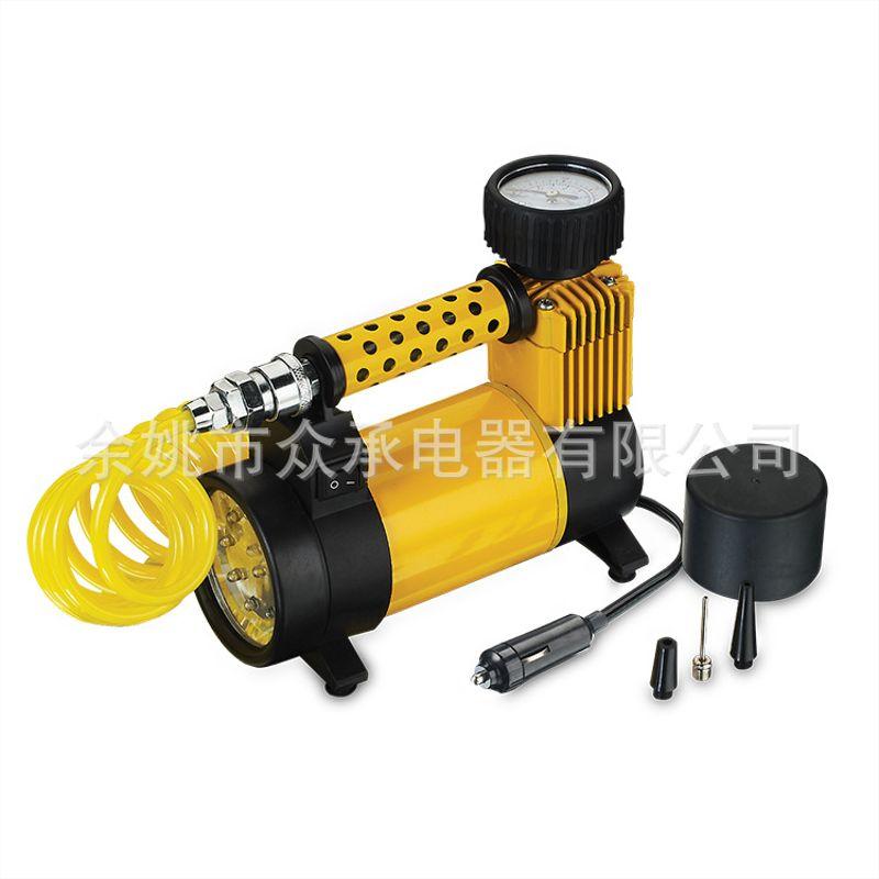 车载充气泵 12V带灯汽车轮胎电动打气泵 轮胎充气泵