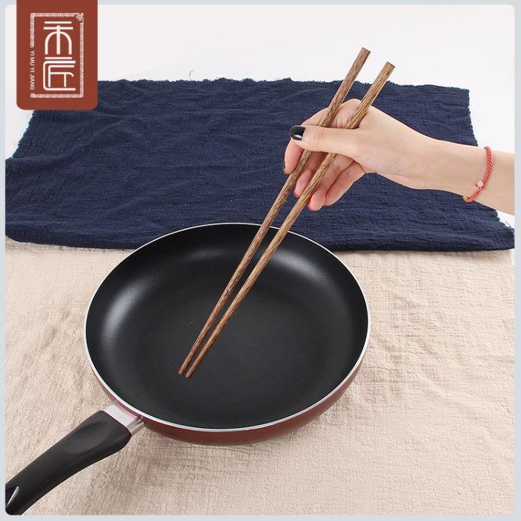 一木一匠 火锅筷子捞面油炸加长筷子原木无漆无蜡鸡翅木筷子42cm