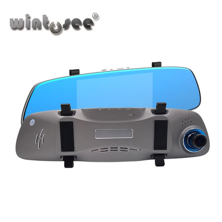 wintoseeL5新款5.5寸触摸屏行车记录仪 1080P高清前后双录后视镜