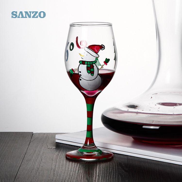 透明高脚玻璃 红酒杯定制葡萄酒 无铅水晶玻璃无铅水晶玻璃杯LOGO
