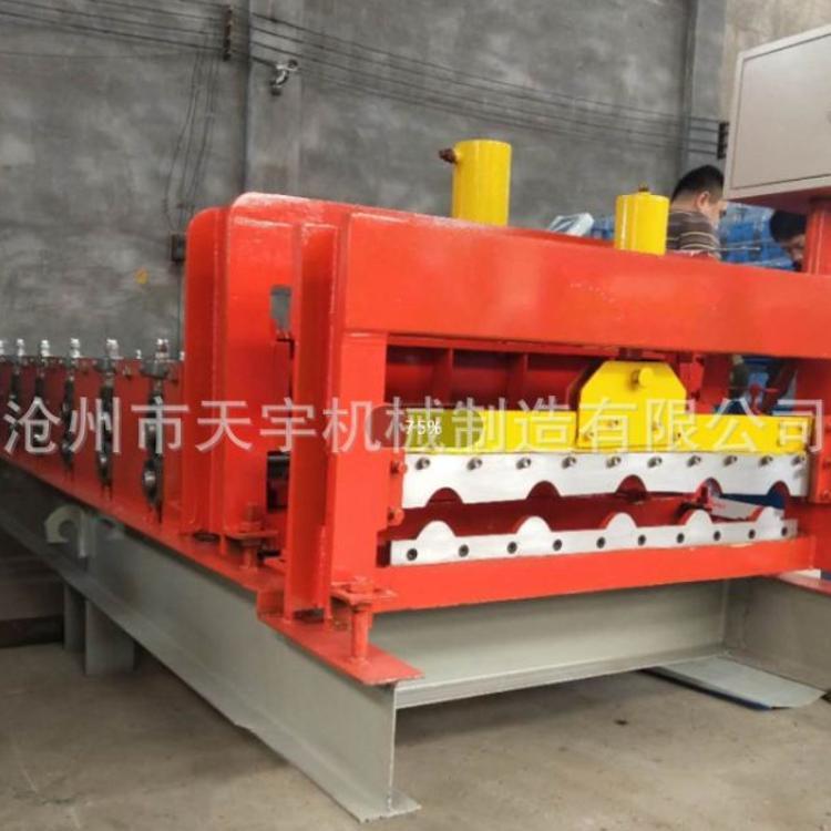 现货销售仿古琉璃瓦机器  800竹筒琉璃瓦设备 厂家供应铁皮成型机