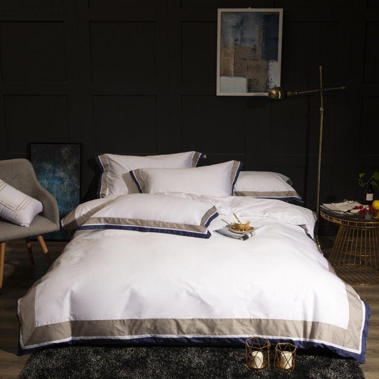 高织高密贡缎四件套 民宿主题酒店宾馆客房布草 五星酒店床上用品