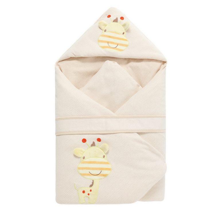 天然有机彩棉纯棉婴儿床品 床上用品 宝宝抱被包被