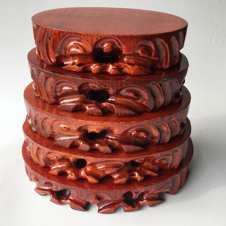 奇石底座可挖槽实木质摆件石头架子木头根雕工艺品底座托蛋形特价