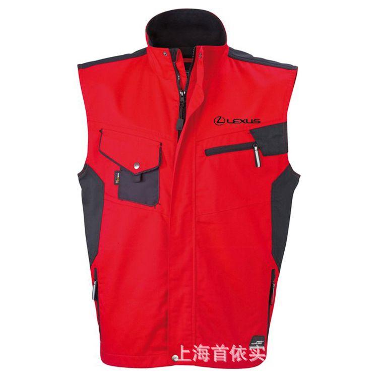 定做夏季多袋马甲 耐磨涤棉工作马甲定制 上海工装马甲厂家