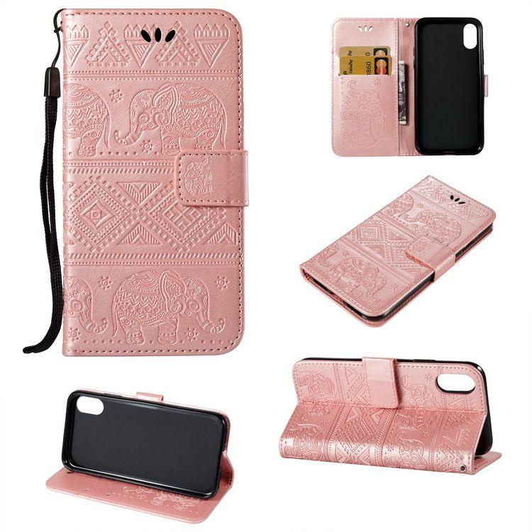 大象纹压花皮套 苹果iPhoneXR手机皮套XS Max创意tpu手机保护壳套