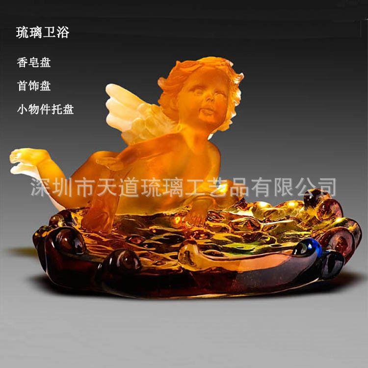 深圳新品琉璃卫浴 浴室用品 香皂盒 酒店用品 创意 卫浴洁具