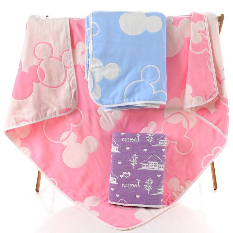 六层纱布童被婴童家纺儿童毛巾被纯棉纱布盖毯宝宝浴巾婴幼儿抱被