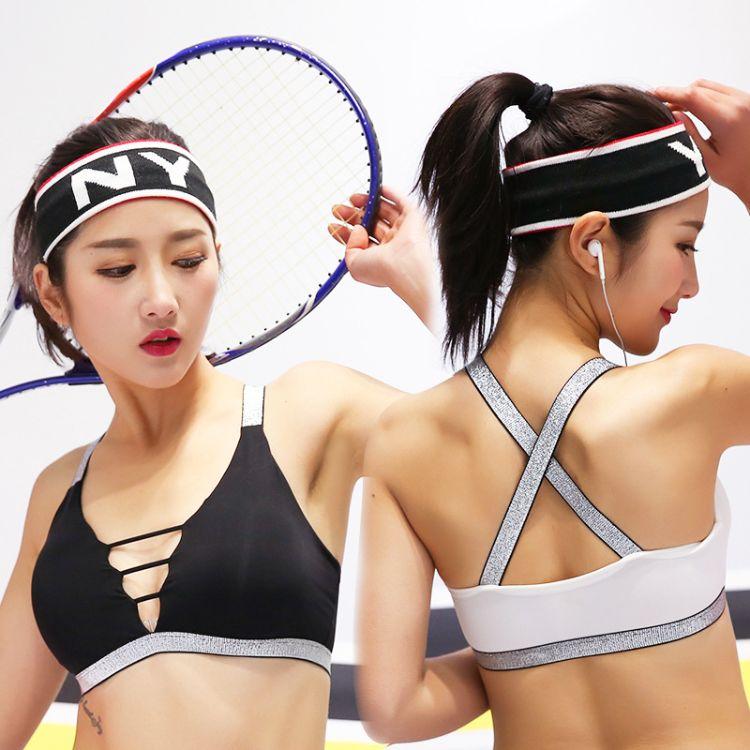 批发无痕丝滑美背吊带裹胸抹胸 打底内衣女瑜伽运动背心带胸垫