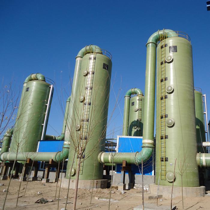 现货供应 玻璃钢脱硫净化塔  高温玻璃钢脱硫除尘器 型号齐全