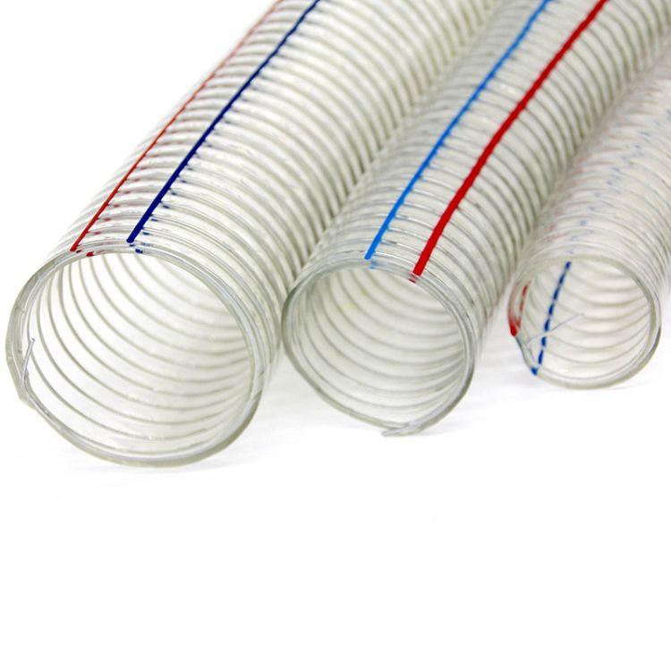pvc透明钢丝管软管 塑料水管钢丝骨架真空管 塑料钢丝管pvc软管50