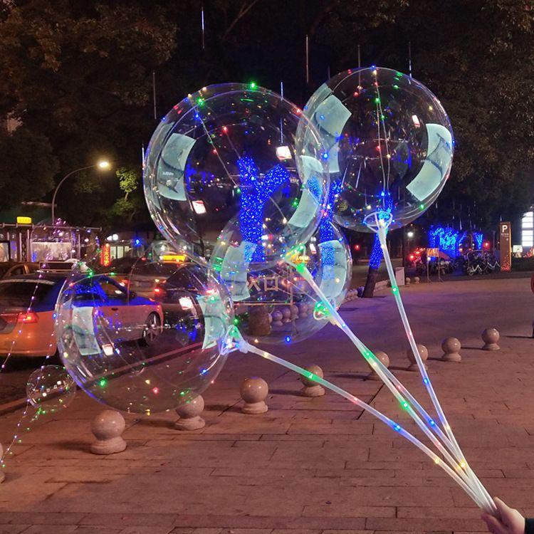 新款24寸无痕超透明波波球婚庆装饰派对布置无褶皱透明波波氦气球