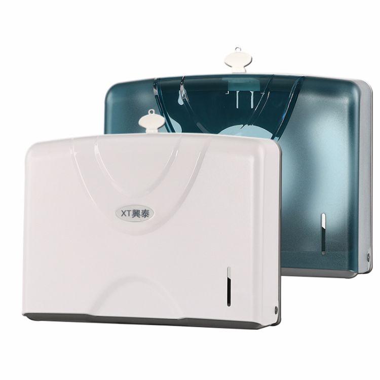 生产厂家批发擦手纸巾架挂壁式防水塑料檫手纸巾盒免打孔擦手纸盒