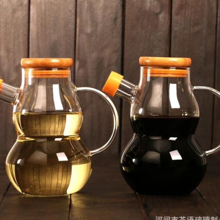 厨房用品家用大号高硼硅玻璃油壶酱油调味料瓶油罐醋瓶酱油瓶防漏