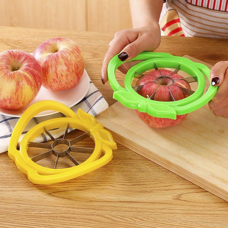 新款带耳朵苹果分瓣器不锈钢水果分割器水果去核器水果切割器