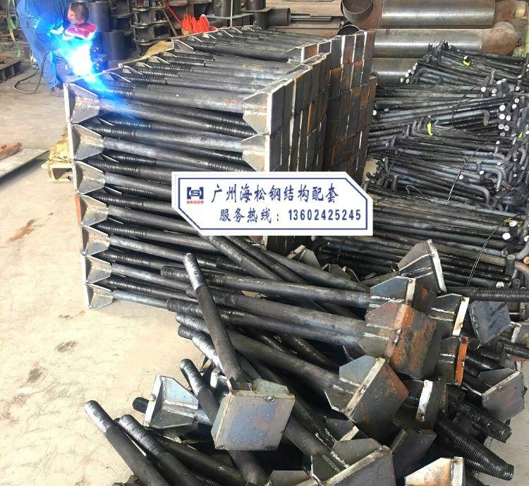 广州海松钢结构配套:焊钉栓钉、预埋地脚螺栓、10.9高强扭剪螺栓