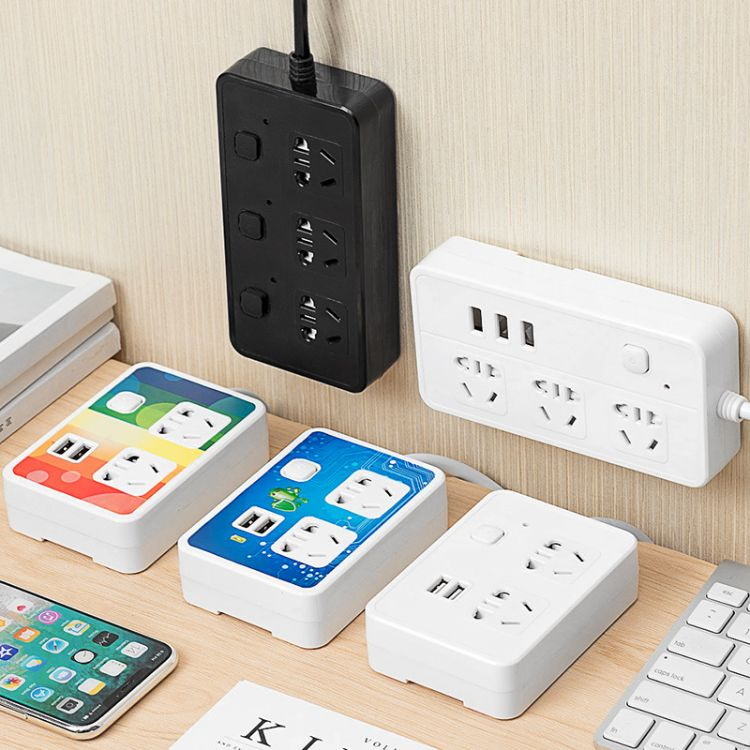 创意USB接口智能插座 家居多功能开关排插 移动式插线板插座批发