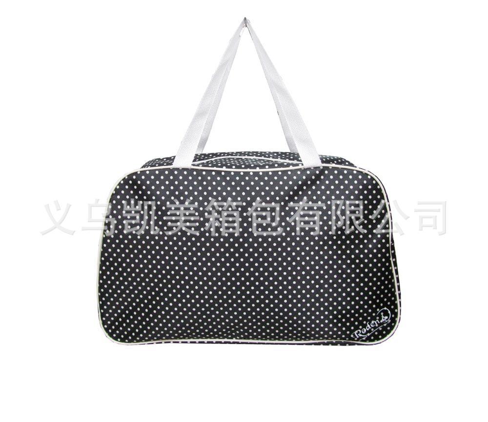 义乌工厂定制生产色丁花瑶包尼龙女士手提包花瑶印花淑女包手提袋