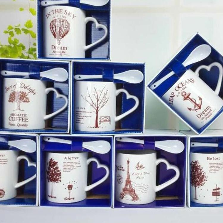 爆款陶瓷杯 创意陶瓷马克杯  日用百货 促销礼品 杯子定制logo